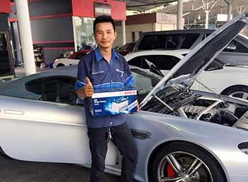 เปลี่ยนแบตรถยนต์ Bosch DIN100